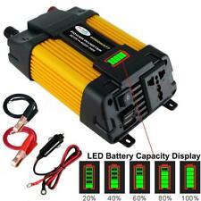 6000W Peaks Power 12V DC TO 110V 220V AC Car Power Converter Inverter Solar D7G7