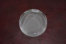 Fenton Clear Round Glass Paperweight Direct from Factory Frosted Back