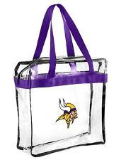 NFL Minnesota Vikings clear zipper Massenger Bag Stadium Approved