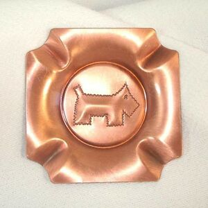 Craftsman Studios Copper Scottie Scotty Dog Ashtray