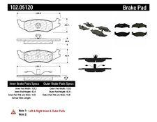 Disc Brake Pad Set-Disc Rear Centric 102.05120