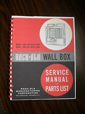 Rock-ola Service & Parts Manual Wall Box 1564/1558