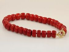 Echtschmuck-Halsketten & -Anhänger im Collier-Stil aus Gelbgold mit Koralle für Damen