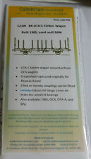 CAMBRIAN C21W KIT BR OTA-C TIMBER WAGON + GIBSON WHEELS/BEARINGS  NEW OO GAUGE