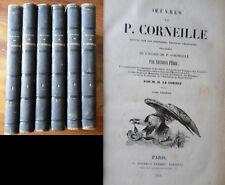 Œuvres de .CORNEILLE 6 volumes -1838-1841
