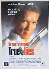 TRUE LIES / ORIGINAL VINTAGE VIDEO FILM POSTER / ARNOLD SCHWARZENEGGER 2