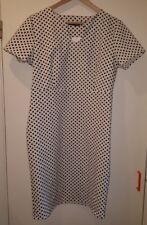 Ladies dress, White with Black spots by Collection, UK 14