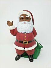 Vintage Ceramic Black Santa Claus - Hand Painted - Duncan Ceramics 10 Inches