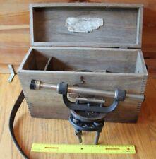 L.S. Starrett 101-C Telescoping Leveling Transit Survey Instrument Vintage & Box