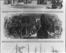 Emigration Vessel,Between Docks,Ship,children in bunks,men,women,c1850 2798