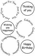 Unmounted rubber stamp Small Sentiment Circles - Happy Birthday - SA-6061
