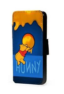 Winnie The Pooh Phone Case Hunny Hole Faux Leather Wallet Case cover UK