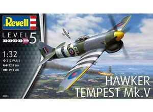 Revell G 3851 WWII Hawker Tempest Typhoon Mk.V Fighter plastic model kit 1/32