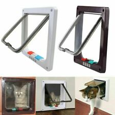 4 Way Pet Cat Puppy Dog Magnetic Lock Lockable Safe Flap Door Gate Frame S M L