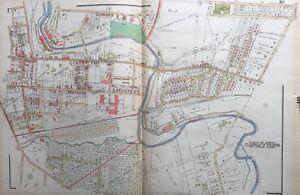 1929 DELAWARE COUNTY PA UPPER DARBY, ALDAN LANSDOWNE CLIFTON HEIGHTS ATLAS MAP