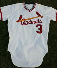 1978 St Louis Cardinals Game Worn Used Home Jersey Sonny Ruberto