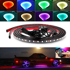 4x 8Color LED Underglow Underbody System Under Car Tube Neon Light Kit Remote