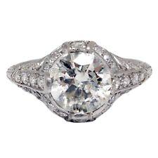 1.77 quilate Anillo De Compromiso Diamante Corte Princesa Vintage platino anillo