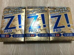 Rohto Z Pro Japanese Hyper Cooling Eye Drop 12ml x 3 Free Ship From Japan
