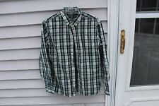 Eddie Bauer Mens Business Casual Shirt Medium Classic Fit Plaid Button Down