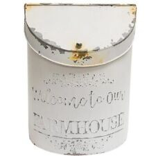Welcome to our Farmhouse Distressed White Post Box