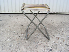 Vintage folding chair with sturdy folding metal frame for Camping and Picnic