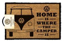Official VW Home Is Where The Camper Is Doormat - 100% Coir Rubber Door Mat