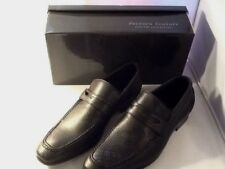 NIB Ferrera Couture Italian Collection Mens Black Slip On Shoes Size 9 Marco