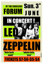 Heavy Metal: Led Zeppelin at the Forum in Los Angeles Concert Poster 1973