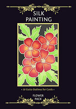 Silkcraft Silk Painting -Gutta Outlines - Card making - Flower Pack (Pack of 20)