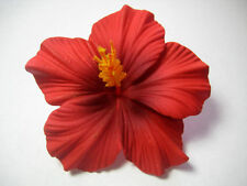 Hawaii Bridal Wedding Party Life-like Hibiscus Flower QTY ( 2 )  Hair Clips