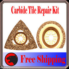 2 Carbide Grout Oscillating Multi Tool Saw Blade For Chicago Ryobi Ridgid Jobmax