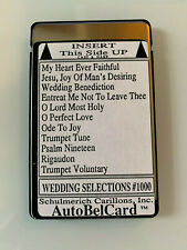Schulmerich Carillons AutoBelCard Bells Music Memory Card Wedding Classical