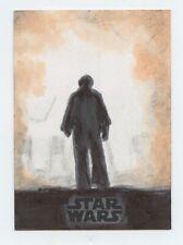 Star Wars Last Jedi - Luke Skywalker sketch card Gerard Garcia 1/1