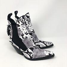 Zara Trafaluc snake print western boots Sz 6.5