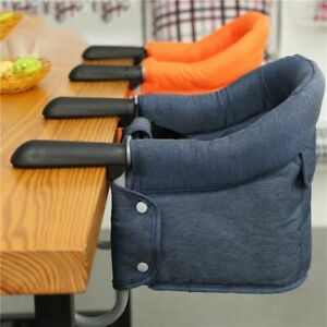 Portable Baby Foldable Highchair Booster Safety Seat Belt Dining Hook On Chair