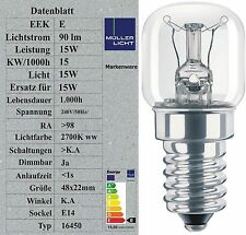 3x Sonderposten 15W Mikrowellenlampe bis 300° Glühbirne Glühlampe E14 Mikrowelle