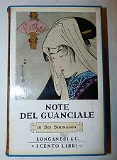 Cento Libri Longanesi - Sei Shonagon: Note del Guanciale 1968 classici Giappone