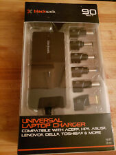BLACKWEB UNIVERSAL LAPTOP CHARGER 90 WATT BWA18HO020