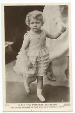 ROYALTY - PRINCESS ELIZABETH going to BIRTHDAY PARTY Beagles Real Photo Postcard