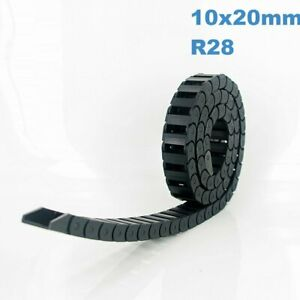 10x20mm R28 Nylon Energy Drag Chain Cable Wire Carrier CNC Router 3D Printer Mil