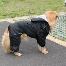 Dog Hooded Raincoat Reflective Pet Rain Wear  Protective Waterproof Jacket Suits