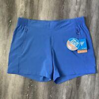 COLUMBIA Women's Size L Shorts PFG Tidal ll OMNI SHADE UPF 50 Azure Blue NWT