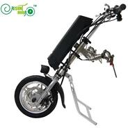 36V 250W e-Wheelchair Tractor Attachment Handbike Handcycle Kit+36V 9AH Battery