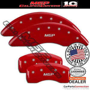MGP Caliper Brake Cover Red 16230SMGPRD Front Rear For Toyota Highlander 18-19