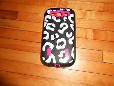 For Samsung Galaxy S3  Hybrid Armor 3-Piece Hard Soft Case Animal leopard