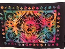 Indian Tapestry Wall Hanging Mandala Poster Size Sun Moon Rainbow Tapestries