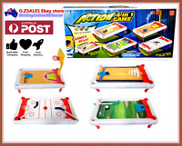 4 In 1 Kids Desktop Board Game Basketball Bowling Golf Hocky Table Game Toy