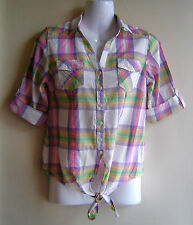 New Look Women's Check Collared Tops & Shirts