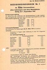 Fella Erntemaschinen Bezugsbedingungen, orig. Info- Blatt 1969